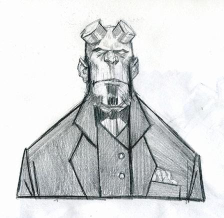hellboy in a suit