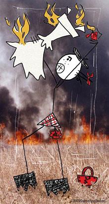 dress-burn