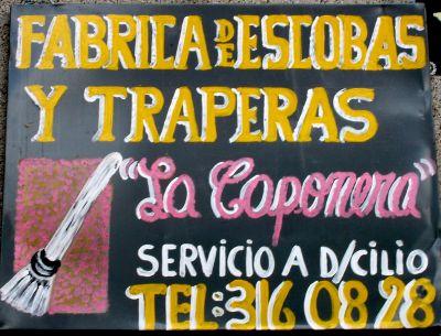 Escobas y trapeadoras La Caponera, servicio a D/cilio