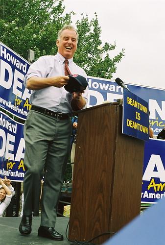 Howard Dean in Boston in 2003