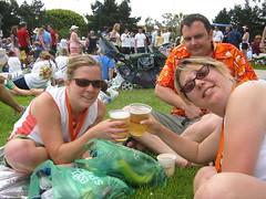 Post-race beer