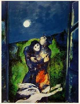 chagall - Lovers in the Moonlight