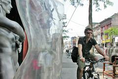 sidewalk cyclist