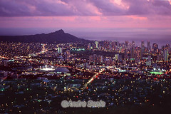 Vista aérea de Honolulu com Waikiki ao fundo