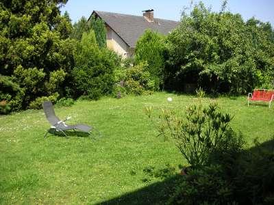 unser Garten, vormittags im Juni