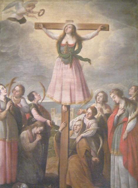 2002_0617_125622 Gemälde der Kreuzigung von Santa Librada in der Kathedrale von Santo Domingo