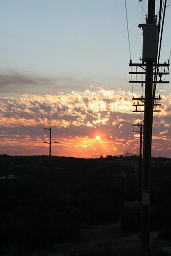 sunset sky clouds drive desert campo