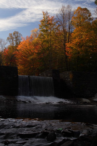 blue trees sunset sky fall colors wall clouds creek waterfall rocks stream pennsylvania pa waymart waynecounty keenlake vanauken