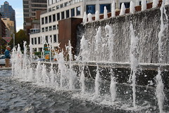 fountains by the hotel