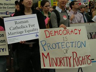 gay marriage protest | by sushiesque