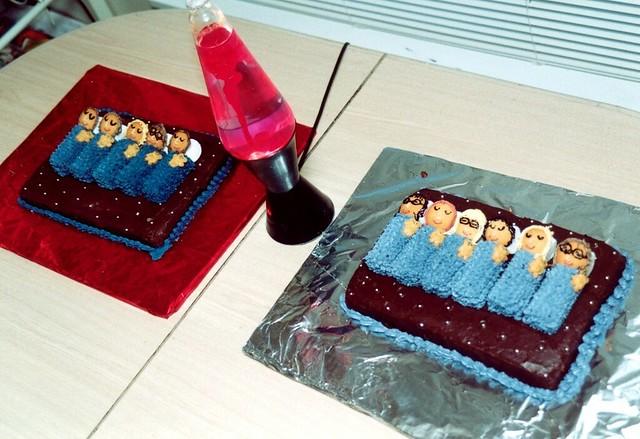 Fine Sleepover Party Cake Each Girl At The Sleepover Had A Repr Flickr Funny Birthday Cards Online Inifodamsfinfo