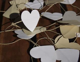Paper heart garland   by Veronique Christensen