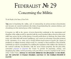 Federalist № 29 | by hober