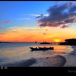 Sunset of Danshuei River