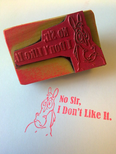 Mr Horse Rubber Stamp | by Sascha Grant