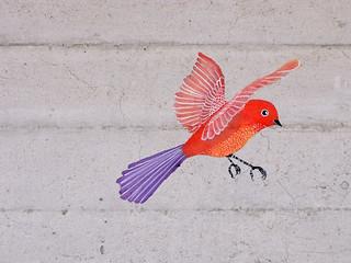 Wall bird done!   by Geninne