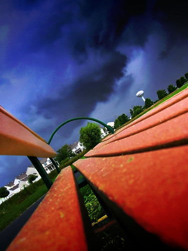 park blue houses red portrait sky orange brown storm nature weather clouds bench point landscape geotagged vanishingpoint illinois interesting nikon seat perspective windy stormy explore saturation convergence forboding parkbench romeoville vanishing thunder precipitation inclementweather nikon3200 beautyisintheeyeofthebeholder blogrodent ineedarealcamera flickrelite august2008 richtatum lumisGallery:blog=photoblog shutterbugsthemewinner geo:lat=41622160 geo:lon=88128902 capturedphotocontestinhabitat