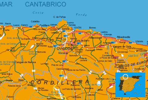 Mapa Costa De Asturias.Mapa Costa Asturias Muchoviaje Hoteles En Playas De Cost