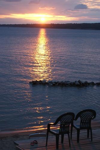 sunset minnesota crosslake mn whitefishlake beaconshores