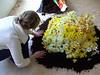Liselott arranging daffodils