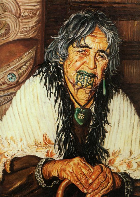 Female Maori Mouth Tattoos: Traditional Maori Chin Tattoo