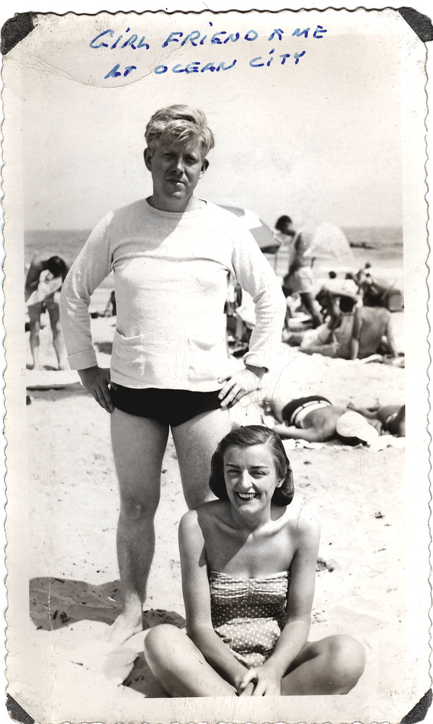 Young Couple on the Beach - 1938 | The girls name in Lee Win