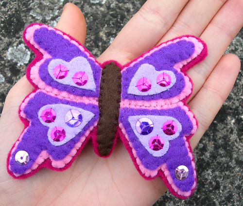 Butterfly Brooch | by bugsandfishes by lupin
