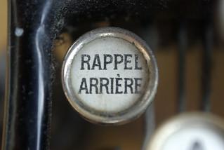 Rappel arrière - Touche de machine à écrire | by FredArt