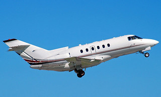 Hawker 800 XP In The Air