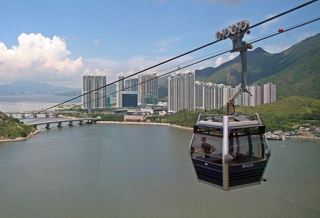 Ngong Ping 360 cable car on Lantau Island, Hong Kong