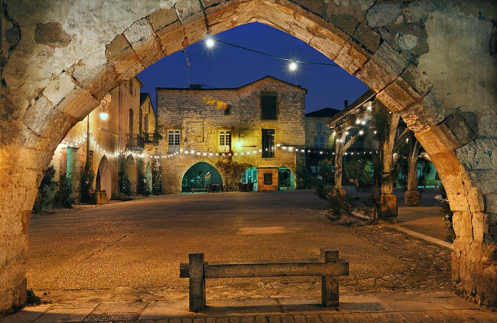 A glimpse of the bastide through the arcades IV HDR* by David Giral | davidgiralphoto.com