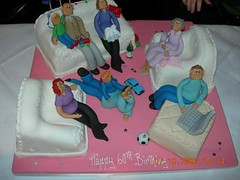 my aunt's 60th birthday cake   by drgillybean