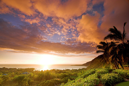 sunset hawaii earthquake quake bigisland kona gnd kealakekuabay 29195
