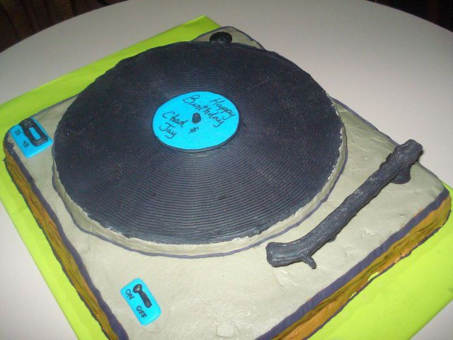 Astonishing Put The Needle On The Record Cake Speciality Cake Made By Flickr Personalised Birthday Cards Sponlily Jamesorg