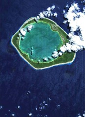 The Niau atoll, located in the central South Pacific Ocean, ESA's Proba satellite | by trackrecord
