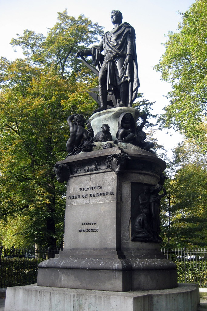 UK - London - Bloomsbury: Russell Square - Duke of Bedford statue