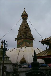 The Bodnath Shrine, Swayambhunath, Kathmandu, Nepal