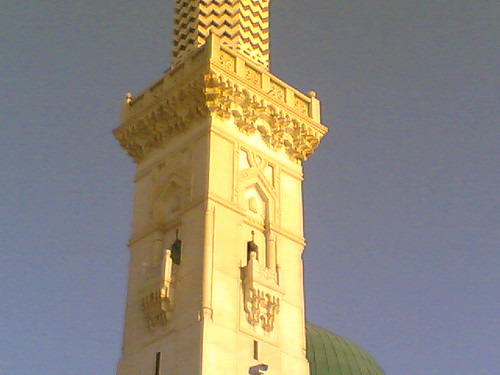 a minaret beside the green dome | by sunnivoice