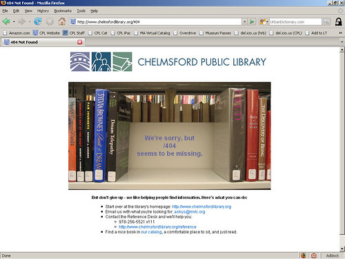 404 Page: Book Shelf   by herzogbr