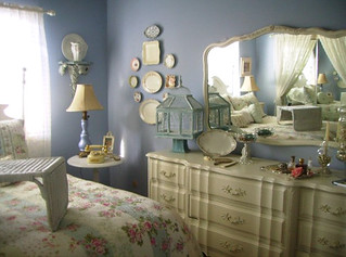 plates on bedroom wall | by Romantic Home
