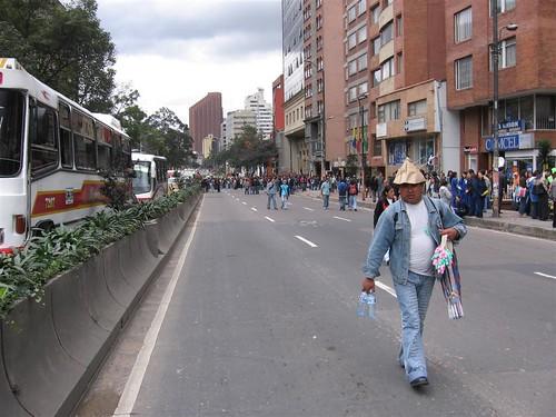 Protesta estudiantil contra el Plan de Desarrollo 010