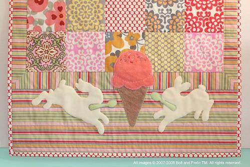 jeni's ice cream quilt— close up