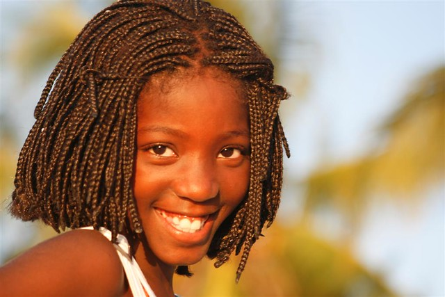 African girl - Beautiful Smile, Moçambique