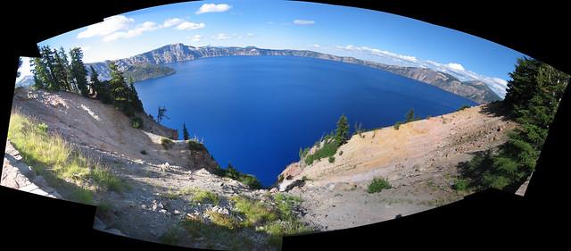 Crater Lake Pseudo-Fisheye