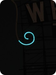 Turquoise Neon Spiral