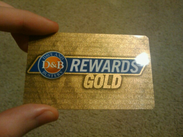 Got my Dave and Buster's Rewards Gold card today  :D | Flickr