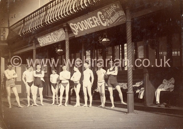 Young men in swimming attire, c.1896