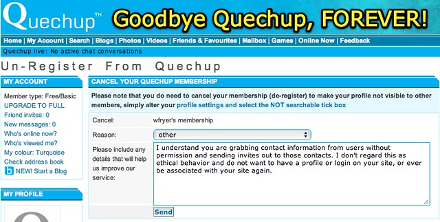 Goodbye Quechup | Uploaded with plasq's Skitch | Wesley
