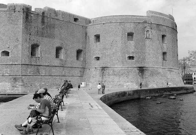 Fort St. John on Dubrovnik harbor
