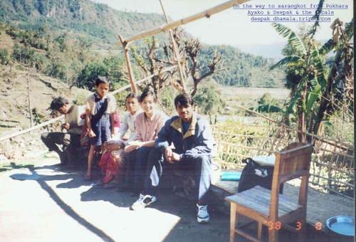 Ayako & me on the way to Sarangkot from Pokhara | Deepak